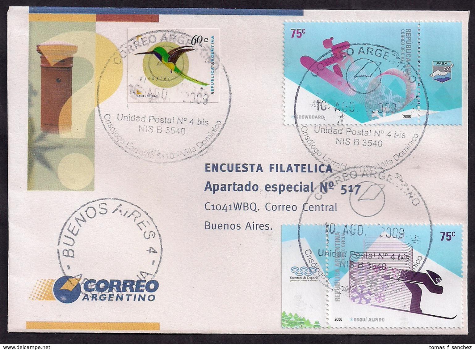 "Argentina - 2009 - Lettre Rare ""Enquête Philatélique"" - Briefe U. Dokumente"
