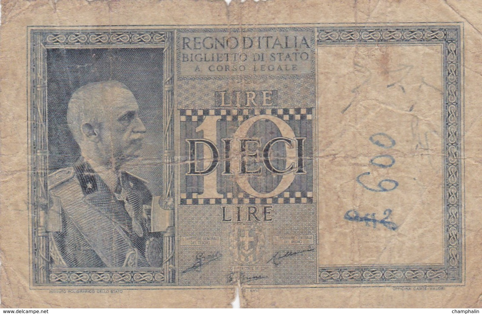 Italie - Billet De 10 Lire - Vittorio-Emanuele III - 20 Mai 1935 - Italia – 10 Lire