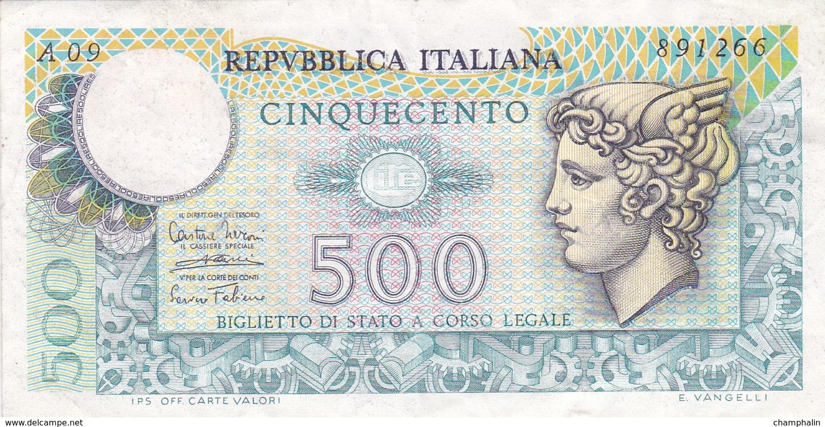 Italie - Billet De 500 Lire - 14 Février 1974 - [ 2] 1946-… : République