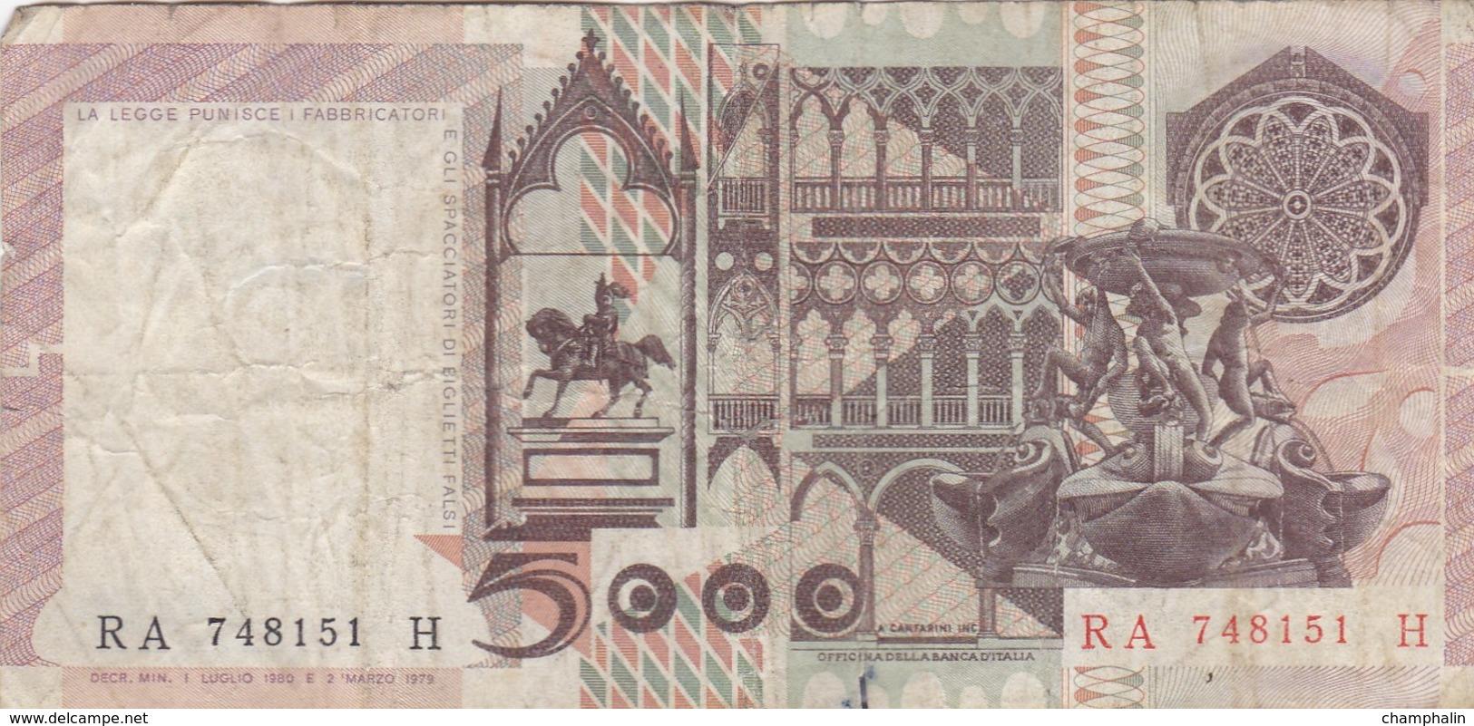 Italie - Billet De 5000 Lire - Antonello Da Messina - 1er Juillet 1980 - 5000 Lire