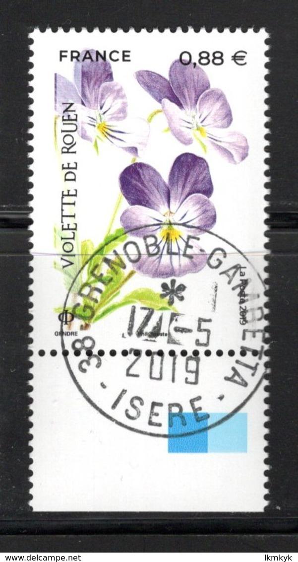 France 2019.Violette De Rouen.Cachet Rnd.Gomme D'Origine. - France