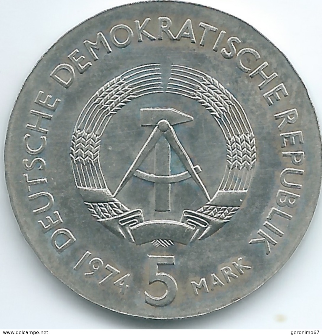 East Germany / DDR - 1974 - 5 Marks - Centenary Of The Death Of Philipp Reis - KM49 - [ 6] 1949-1990 : RDA - Rép. Démo. Allemande