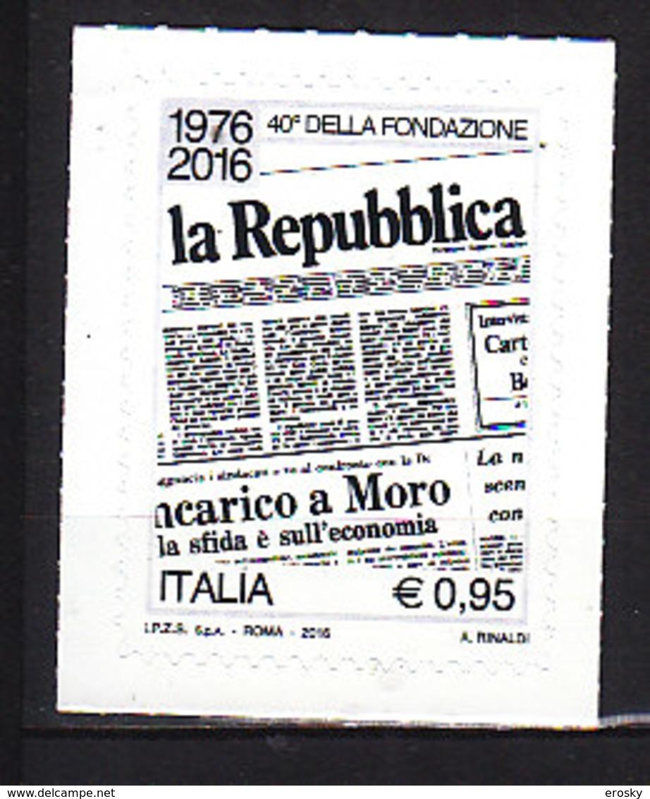 PGL DE0351 - ITALIA REPUBBLICA 2016 SASSONE N°3656 ** - 6. 1946-.. Repubblica