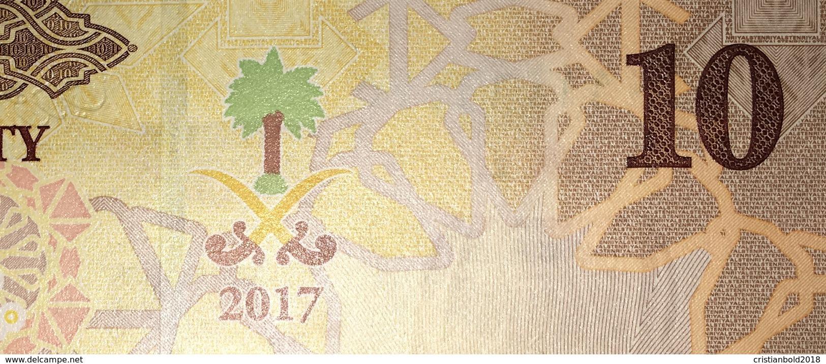 SAUDI ARABIA 10 Riyals 2017 P-39b - 5 UNC Banknotes Consecutives - Saudi-Arabien