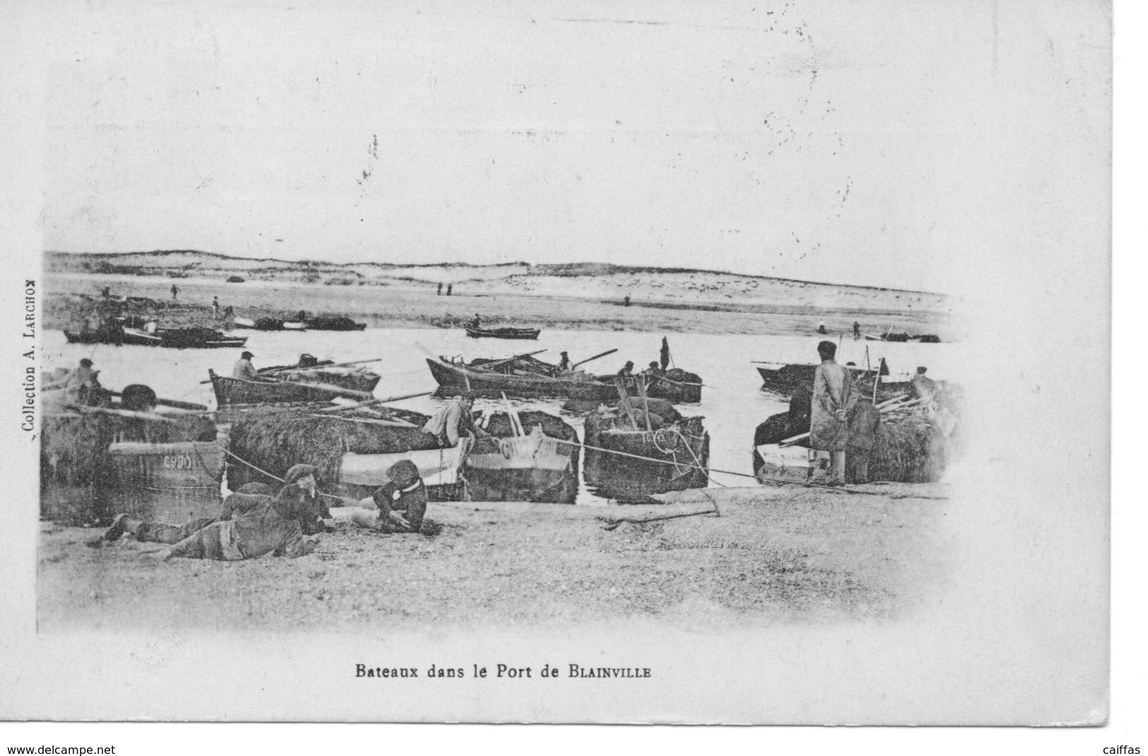 BLAINVILLE BATEAUX DANS LE PORT DE BLAINVILLE - Autres Communes