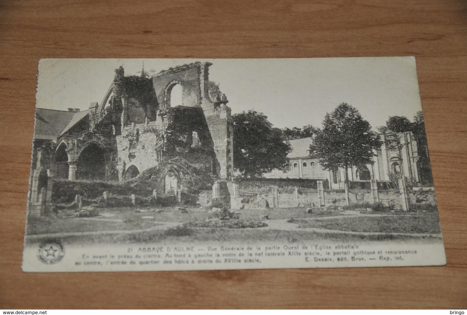 9822-    ABBAYE D'AULNE, VUE GENERALE DE LA PARTIE QUEST DE L'EGLISE ABBATIALE - Thuin
