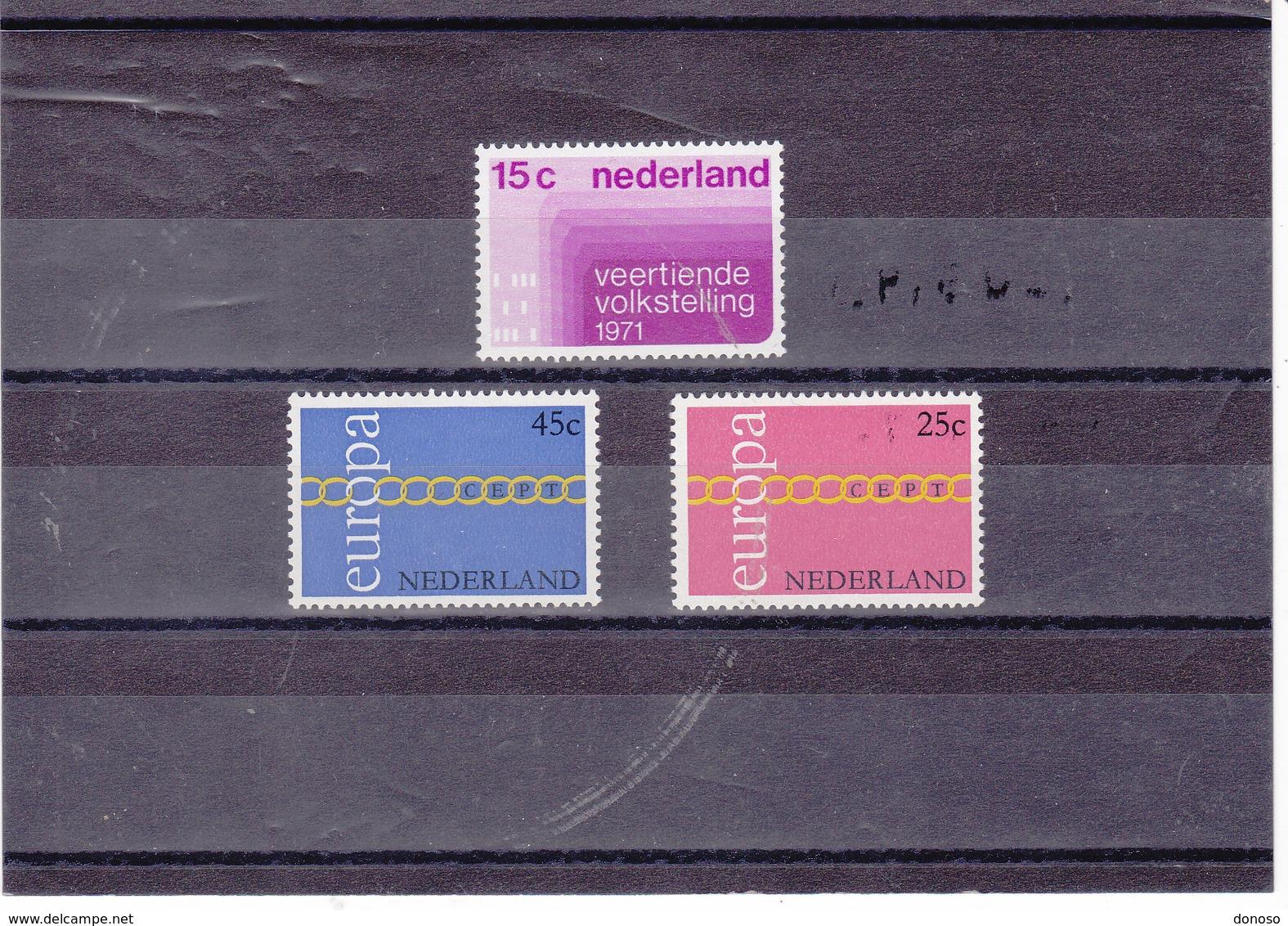 PAYS BAS 1971 Yvert 926 + 932-933 NEUF** MNH - Period 1949-1980 (Juliana)
