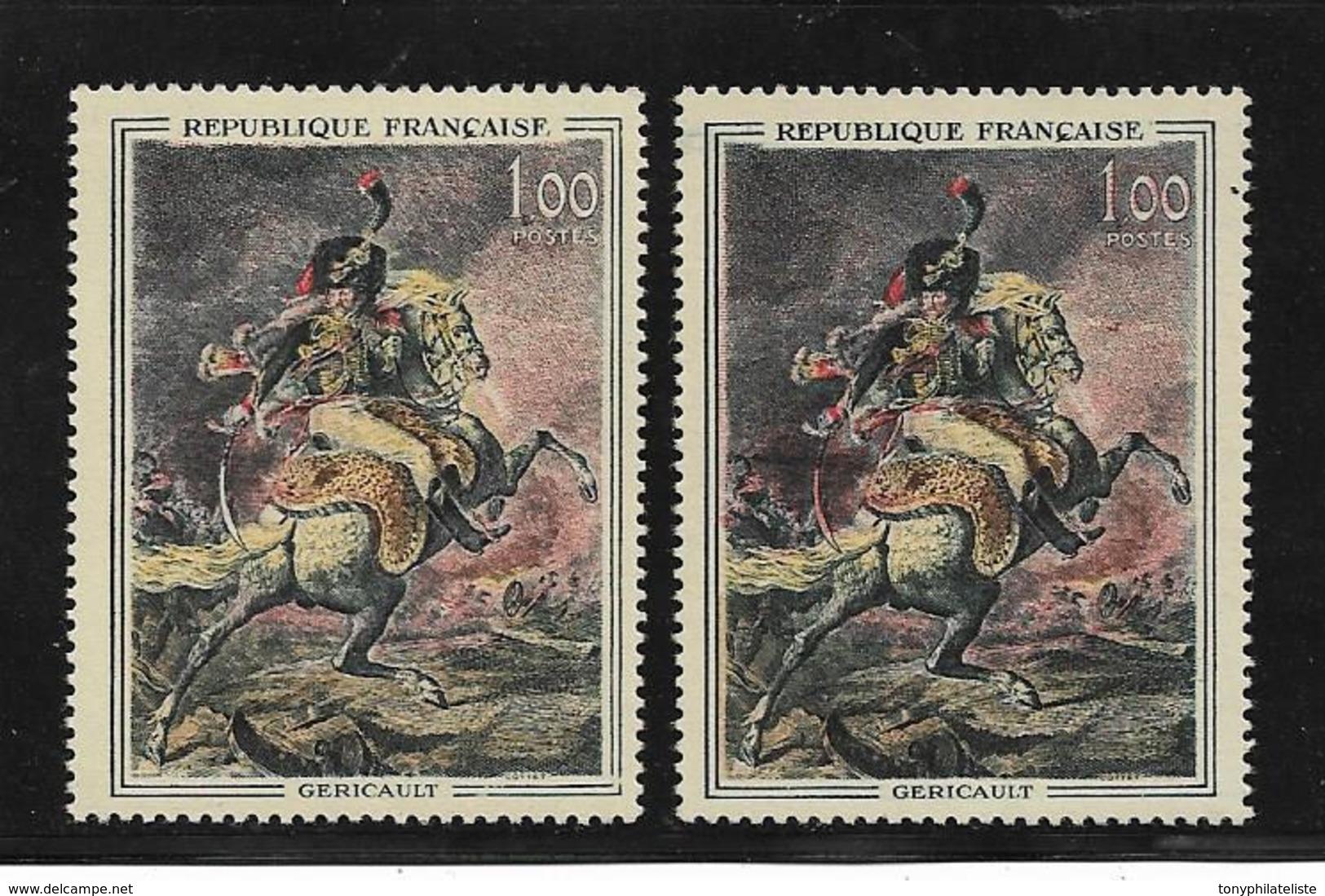 France N°1365 Et 1365a (sabre Rouge) Neuf ** - Variedades Y Curiosidades