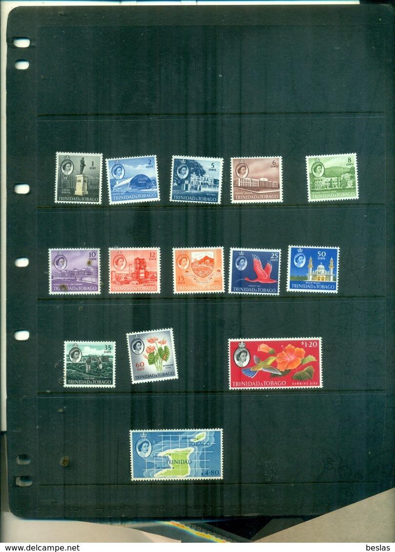 TRINIDAD TOBAGO SERIE COURANTE ELISABETH II ET SUJETS DIVERS 14 VAL NEUFS A PARTIR DE 2.25 EUROS - Trindad & Tobago (...-1961)