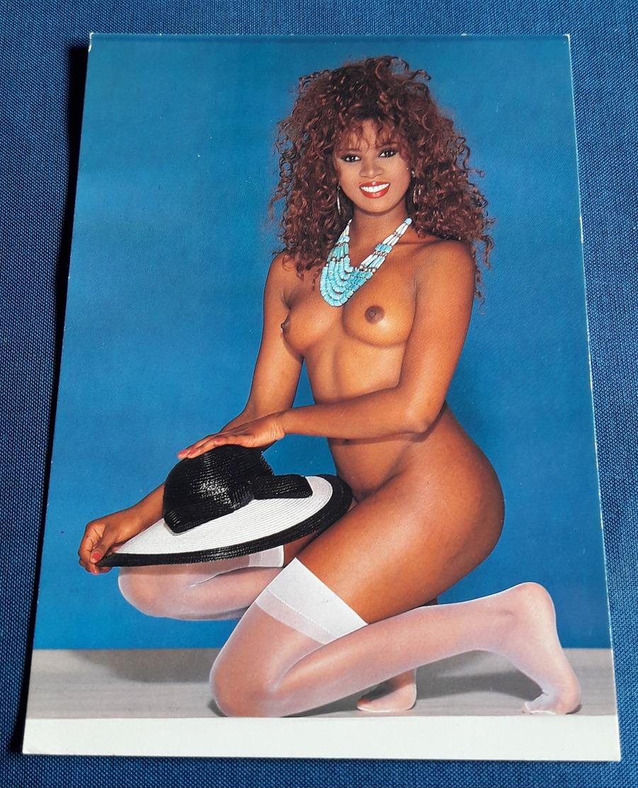 Nude PIN-UP GIRL Photo Post Card - Sexy Black Woman Nackt-Model CRISTALL Jeune Femme Nu - Erotikpostkarte (ake269) - Fine Nudes (adults < 1960)