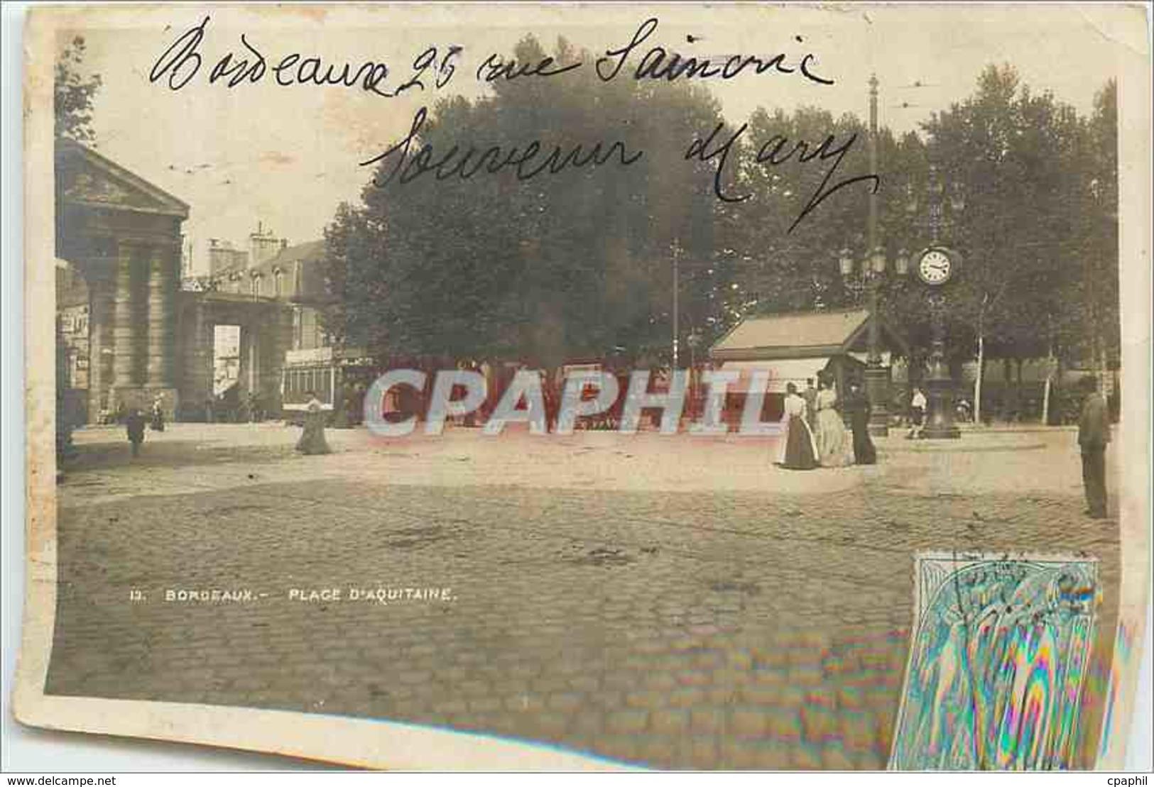 CPM Bordeaux Place D'Aquitaine - Bordeaux