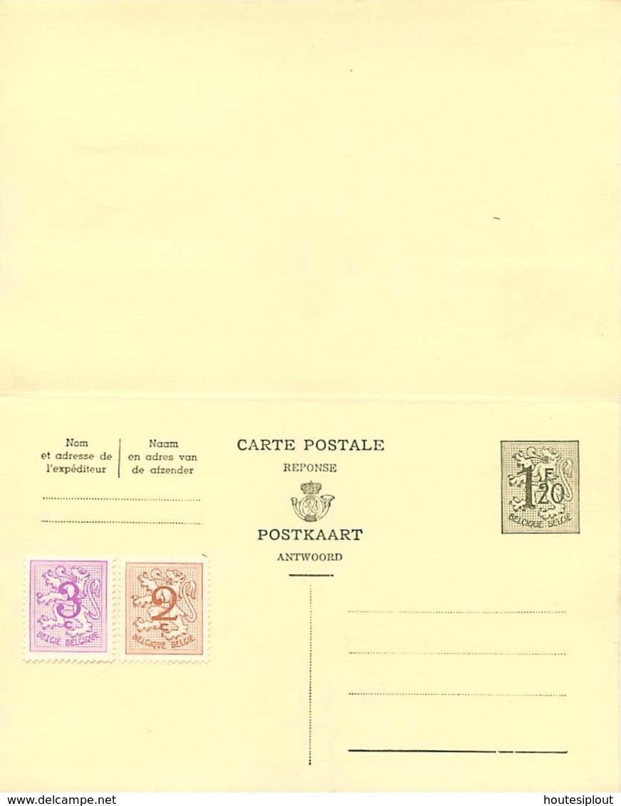 Belgique. CP 153 I Double + TP 1026A & 1026B  Namur /Exposition Philatélique > Boitsfort  1961 - Postales [1951-..]