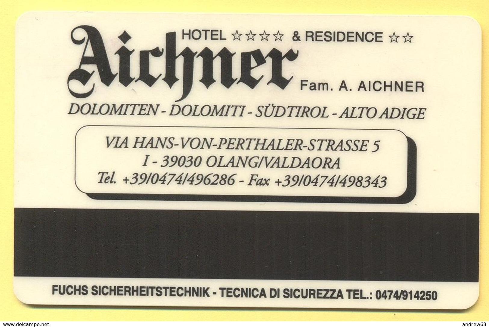 ITALIA - ITALY - Hotel Aichner - Olang/Valdaora - Chiave Magnetica - Hotelkarten