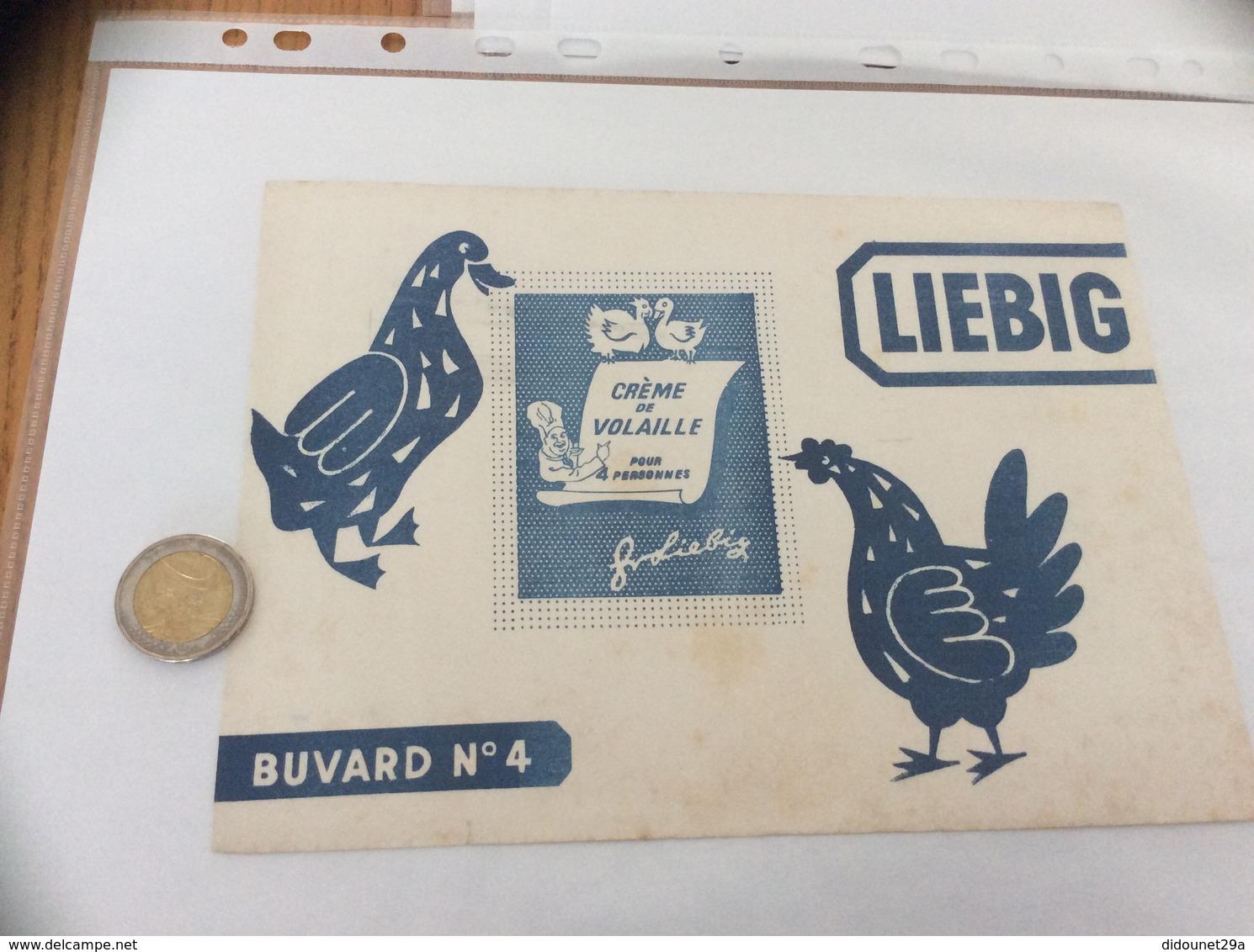 Buvard «LIEBIG - N°4 CRÈME DE VOLAILLE» (poule, Canard) - Sopas & Salsas