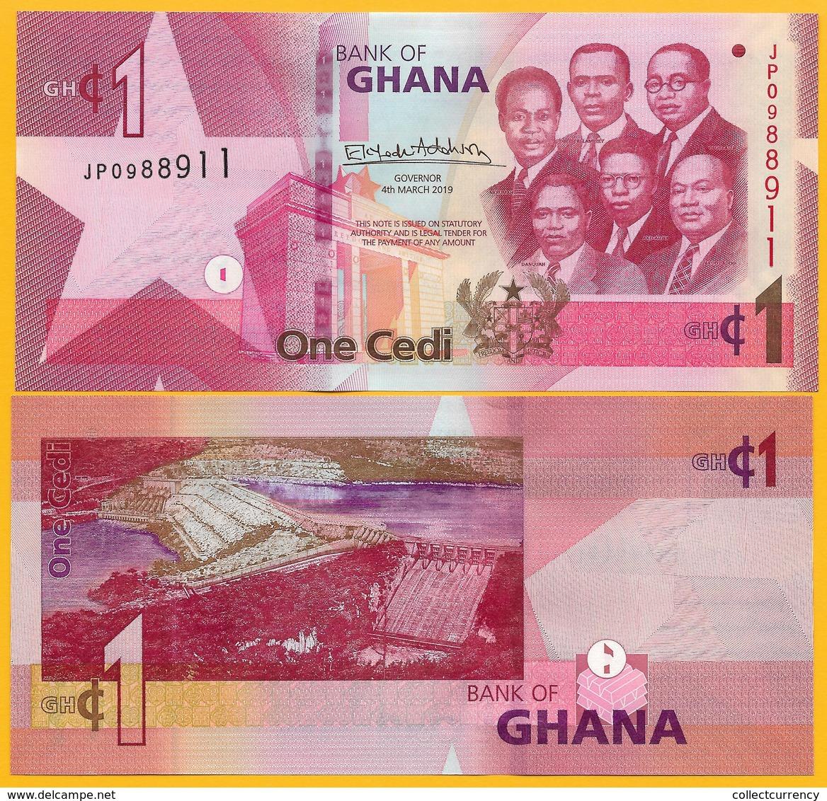 Ghana 1 Cedi P-new 2019 UNC Banknote - Ghana