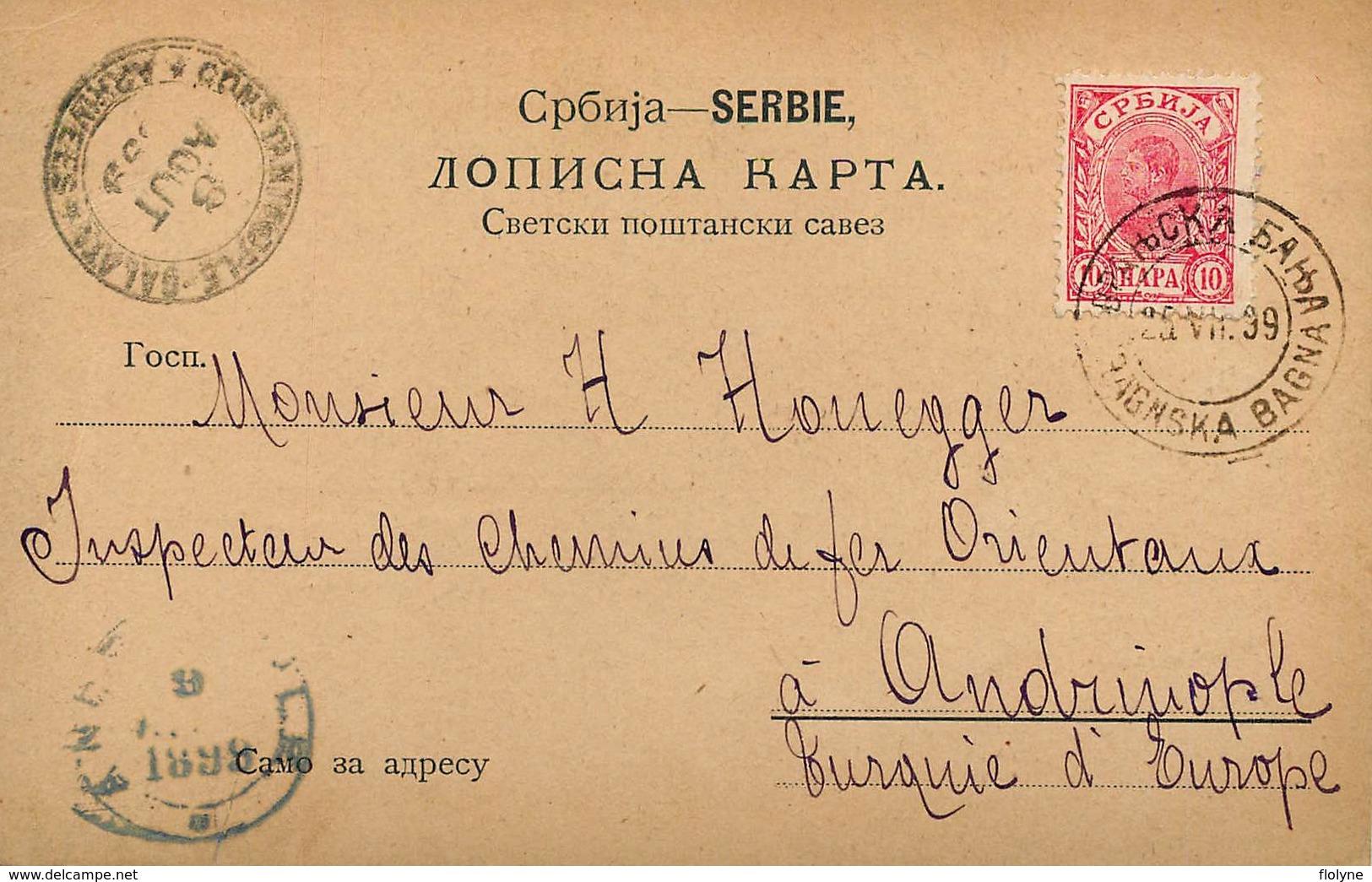 Gruss Aus Niche - 1899 !!! - Serbie - TP + Cachets + Oblitérations !! - Serbie