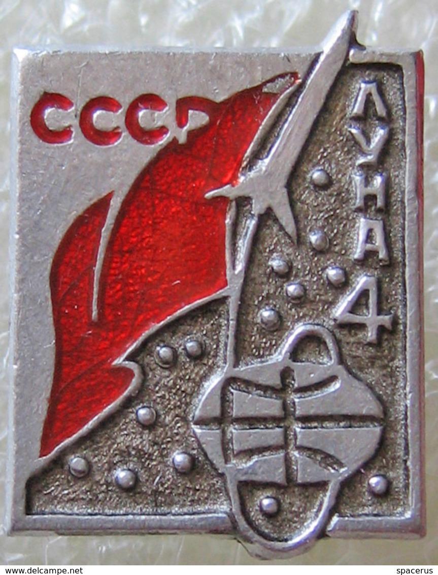 283 Space Soviet Russian Pin Interplanetary Station Luna-4 - Raumfahrt