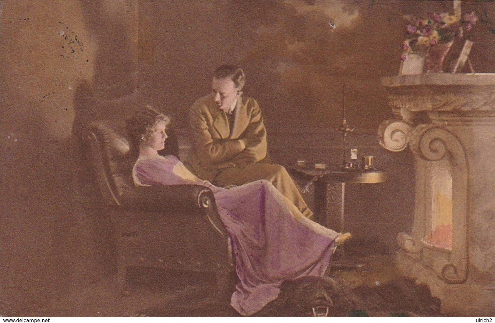 AK Paar Vor Dem Kamin - 1920 (41345) - Paare