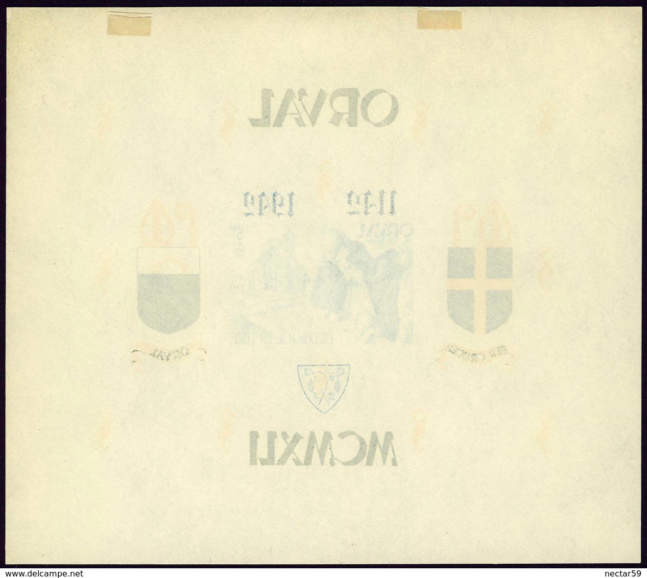 Belgique Belgie Orval Bloc 25 Blok 25 Neuf** Charnière 1941 - Blokken 1924-1960