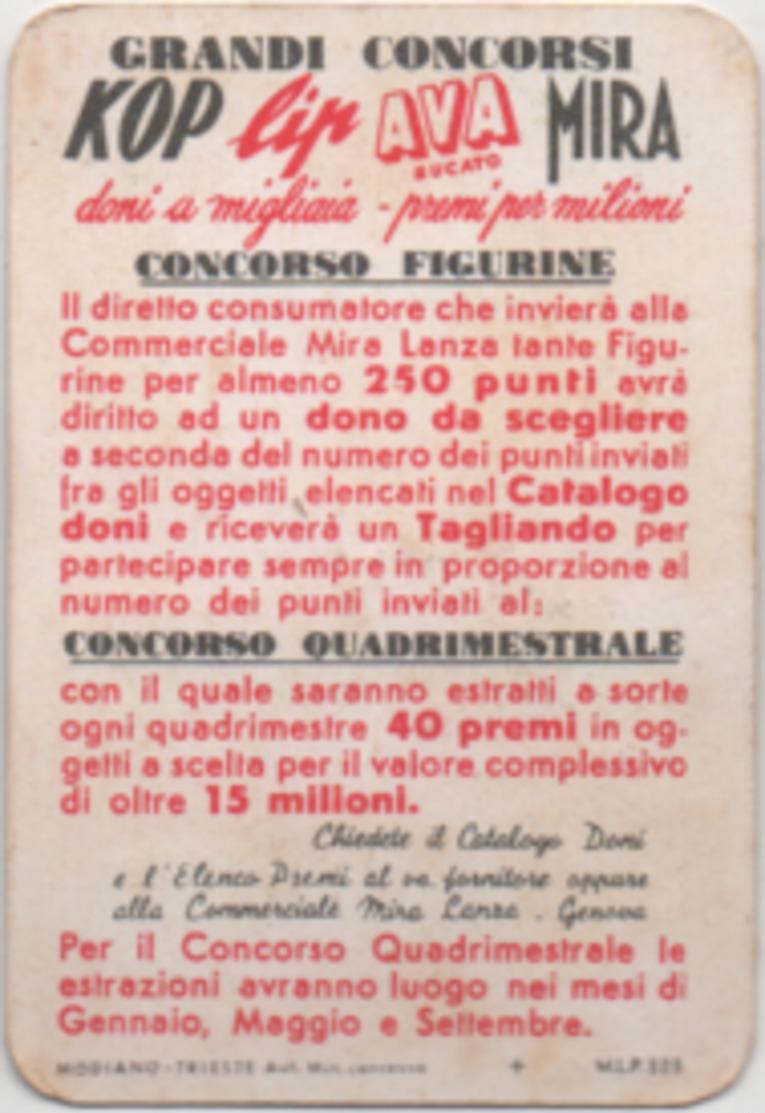 Figurina Chromo Detersivi Mira Lanza 5 Punti Tre Corone Angolo Rosso - Trade Cards