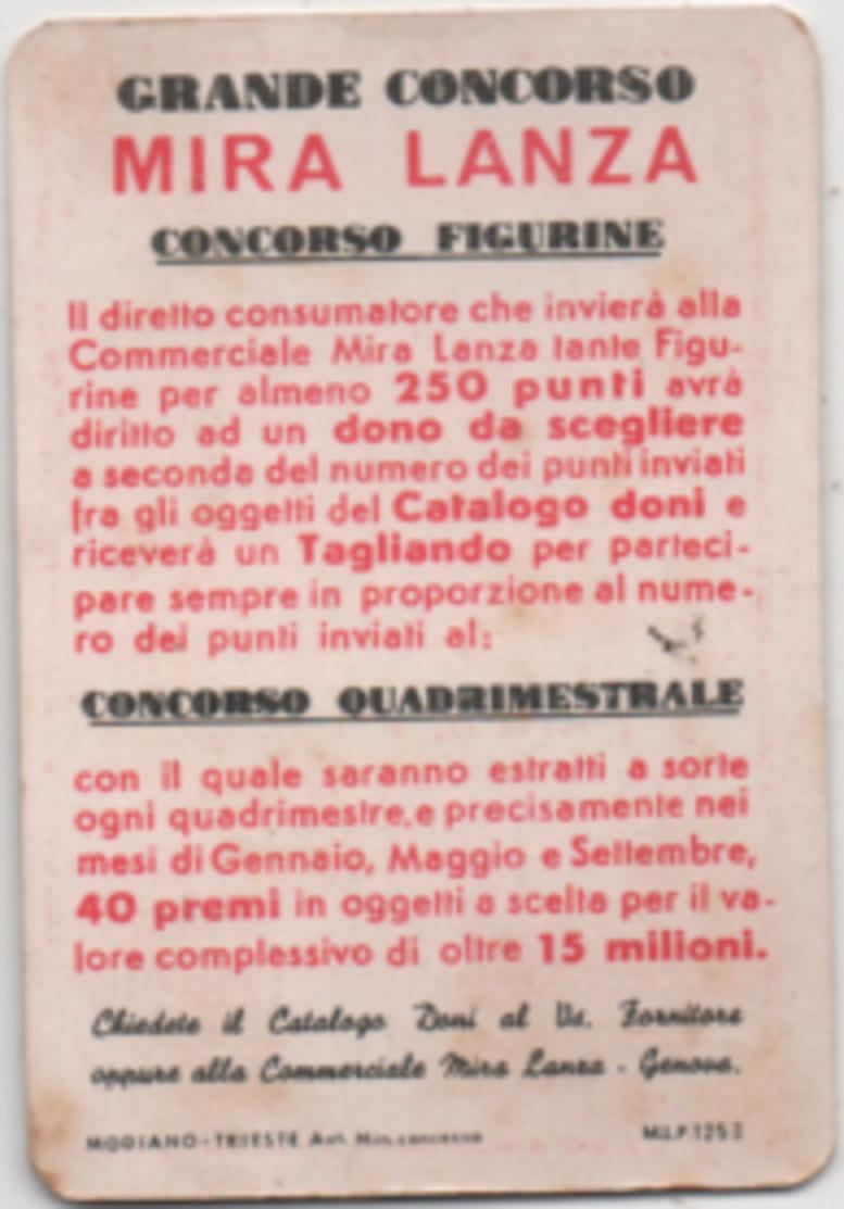 Figurina Chromo Detersivi Mira Lanza 5 Punti Kop Pavimenti Angolo Rosso - Trade Cards