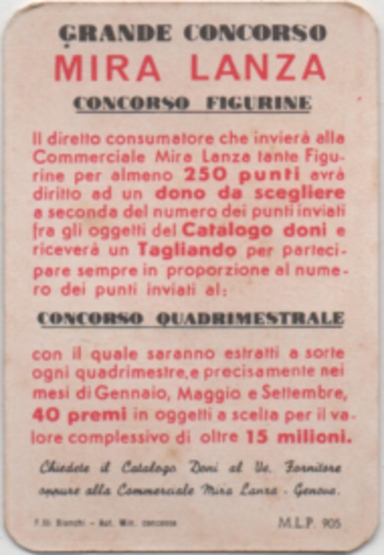 Figurina Chromo Detersivi Mira Lanza 5 Punti Stella Angolo Giallo Punto Bianco - Unclassified