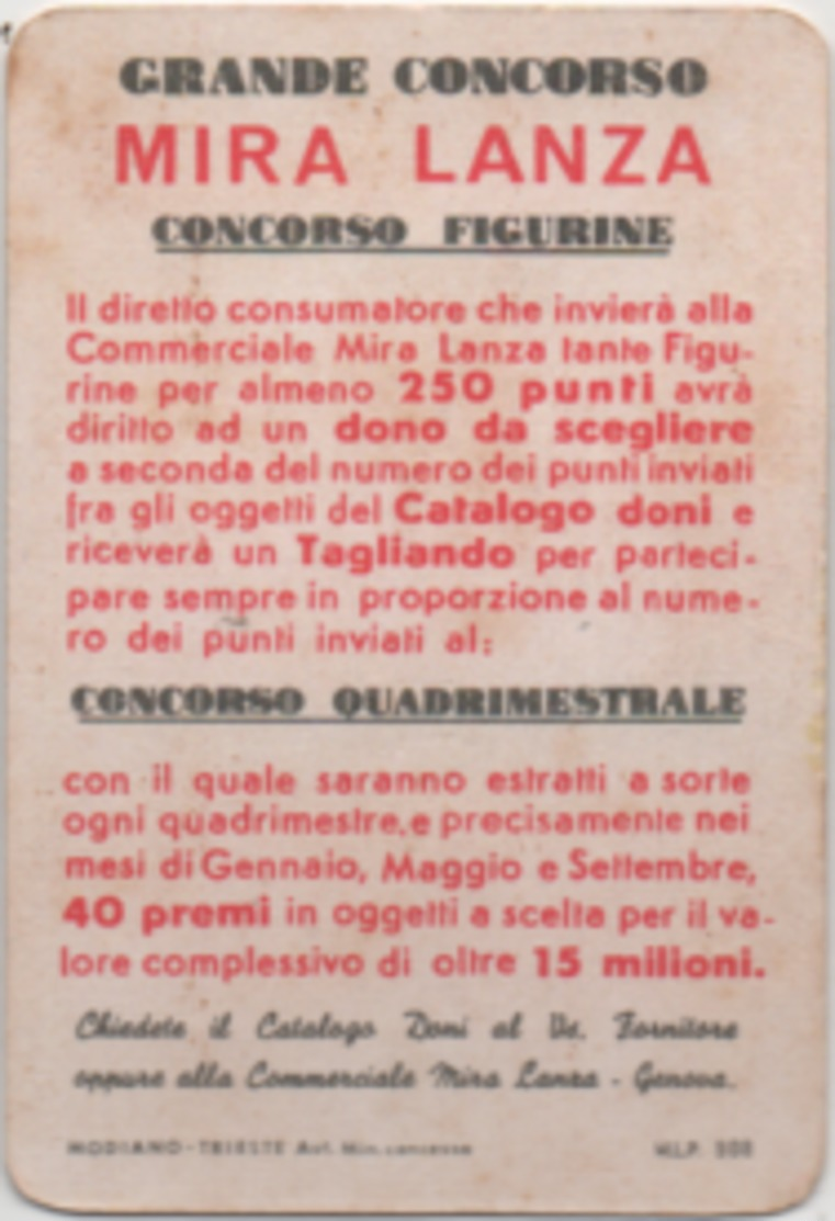 Figurina Chromo Detersivi Mira Lanza 15 Punti - Trade Cards