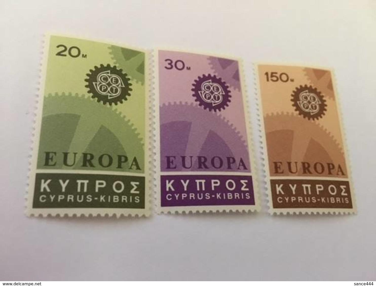 Cyprus Europa 1967 Mnh - Cyprus (Republic)