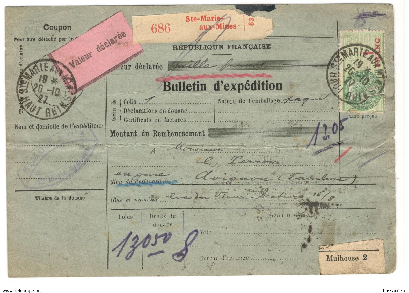 17755 - Bulletin D'expédition - Storia Postale