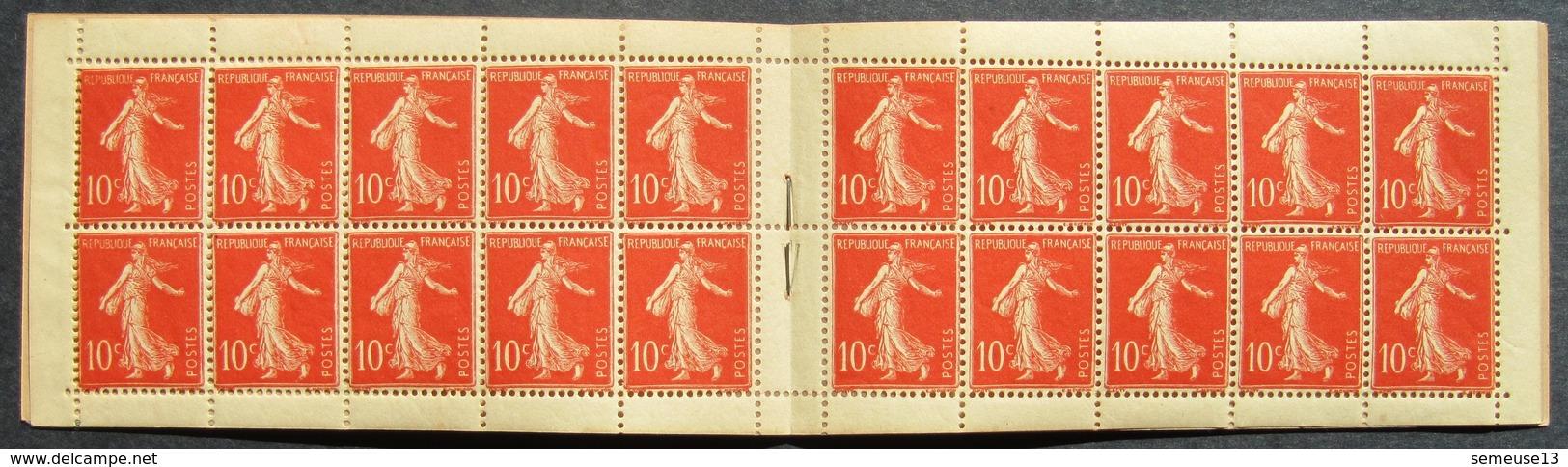 Semeuse 10 C. Maigre 135 Carnet C1 Superbe - Pas Cher - 1906-38 Semeuse Camée
