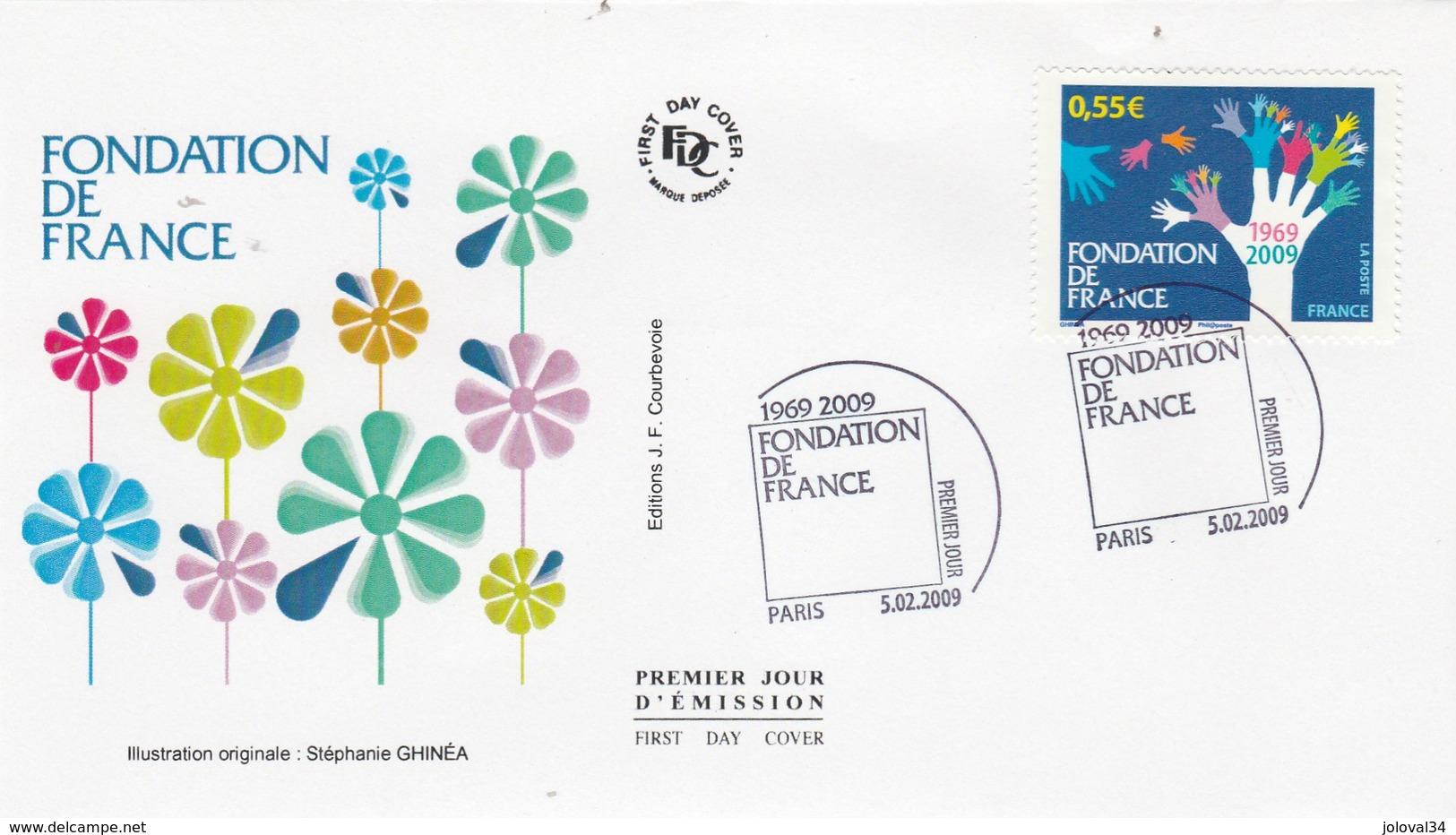 France FDC 2009 Yvert  4335 Fondation De France - FDC