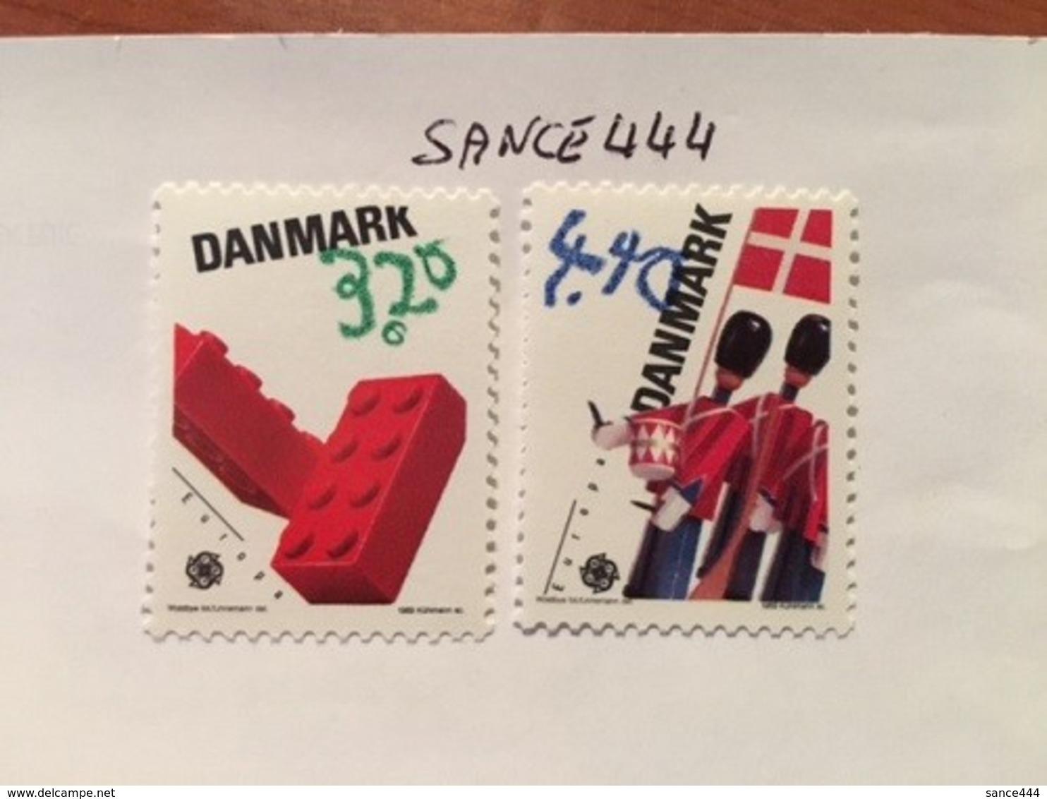 Denmark Europa 1989 Mnh  #ab - Unused Stamps
