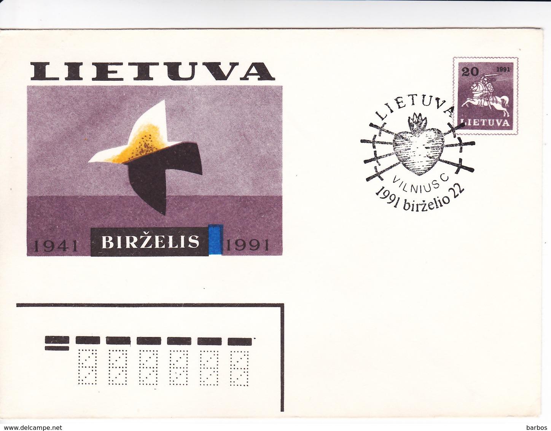Lituanie   Lietuva 1991  Pre-paid Envelope - Lithuania