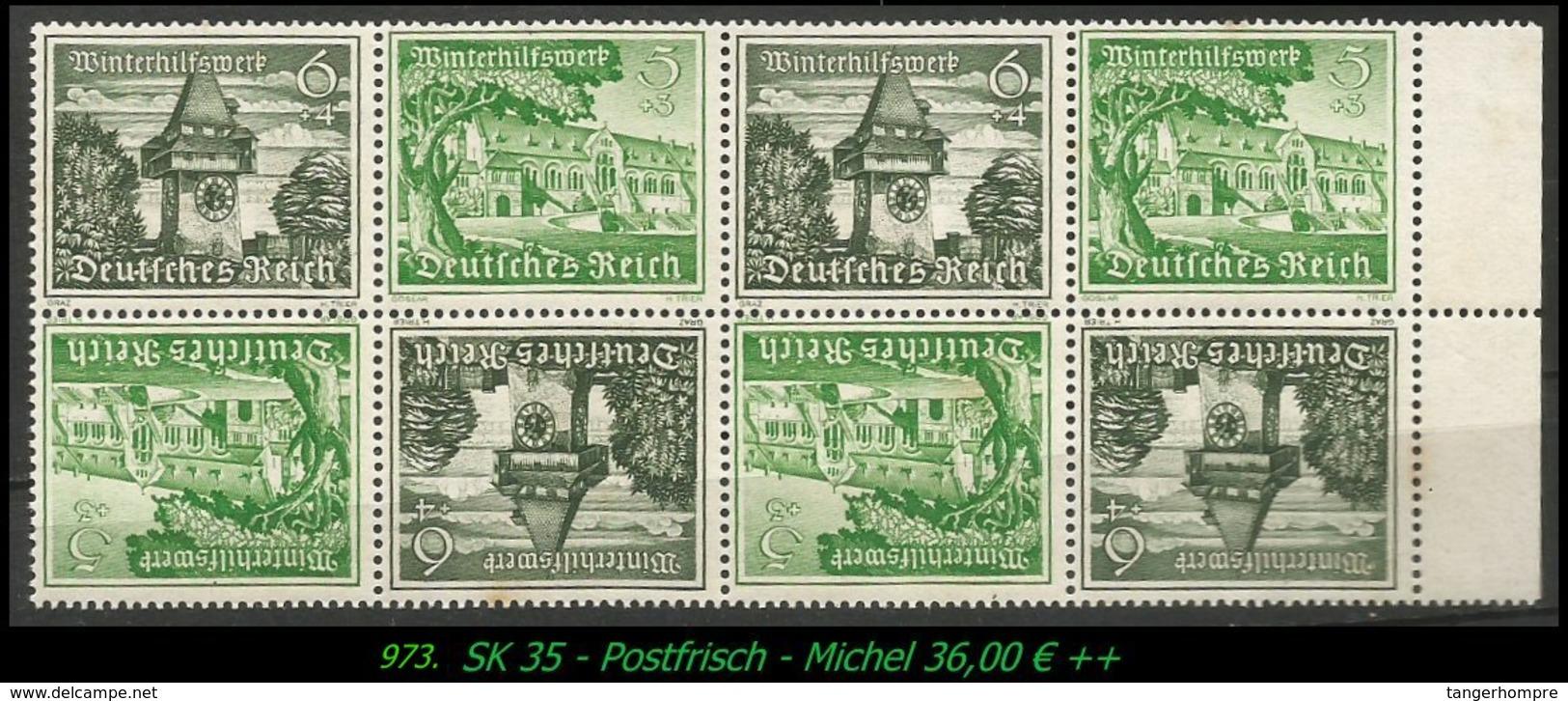 Postfrischer ZDR - Mi. Nr. SK 35 - Im 4 Er Block - Zusammendrucke