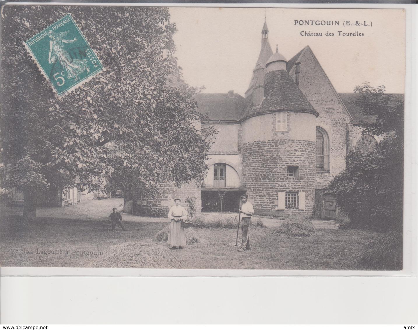 28. Pontgoin. Chateau Des Tourelles. Carte Animée - Unclassified