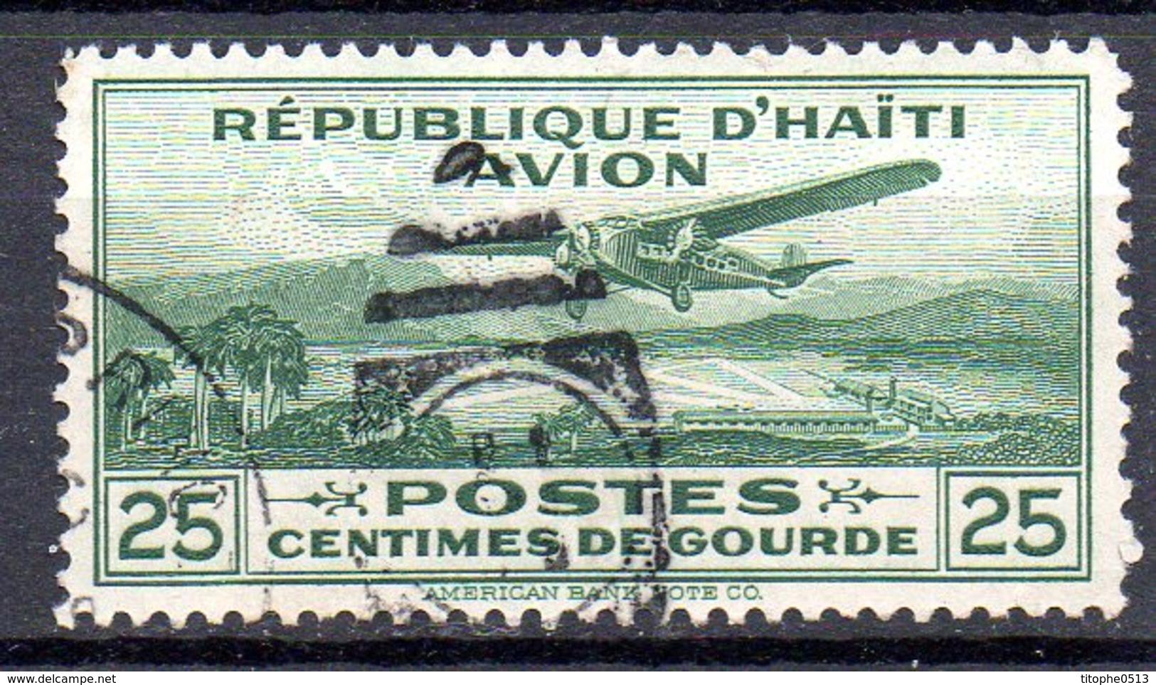 HAÏTI. PA 1 Oblitéré De 1929-30. Avion Survolant Port-au-Prince. - Avions