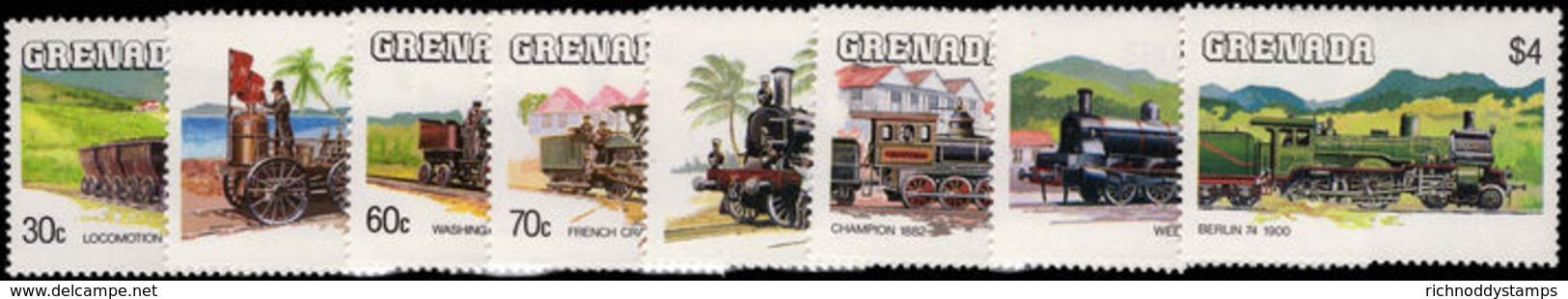 Grenada 1984 Railway Locomotives Unmounted Mint. - Grenada (1974-...)