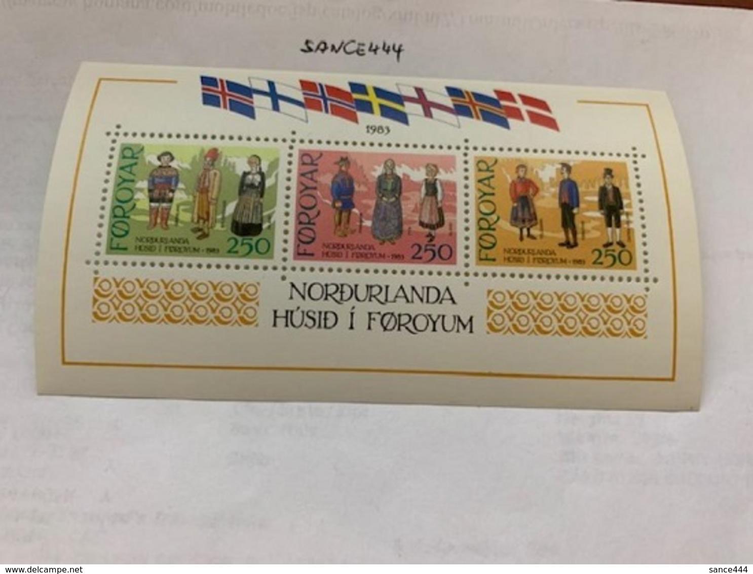 Faroe Islands Nordic House S/s 1983 Mnh - Faroe Islands