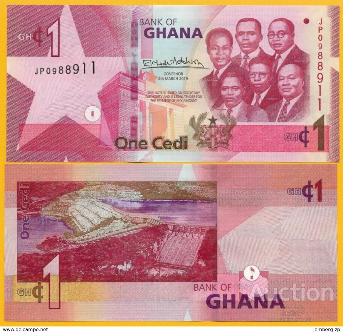 Ghana - 1 Cedi 2019 UNC Lemberg-Zp - Ghana