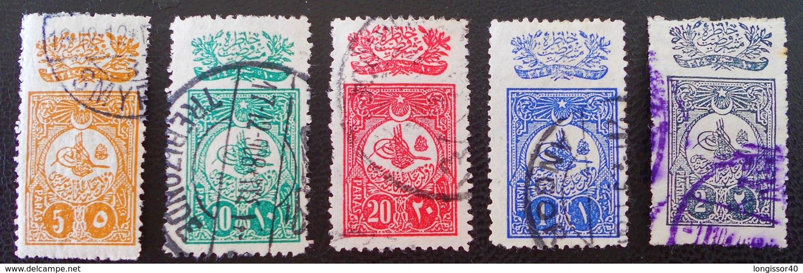 PROMULGATION DE LA CONSTITUTION 1908 - OBLITERES - YT 134/38 - 1858-1921 Osmanisches Reich