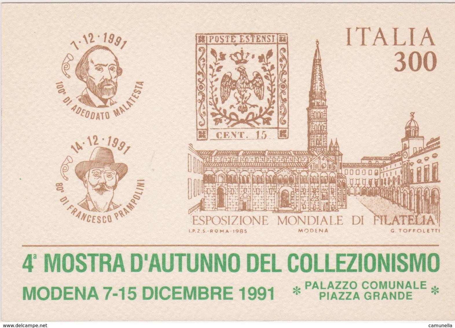 Cartolina Esposizioni Filateliche Numismatiche - Esposizioni