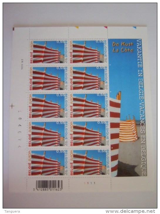 België Belgique 2004 Europa Vakantie Vacance Kust La Côte Belge De Kust Feuillet Planche 1 3291 Yv 3278 MNH ** - Hojas