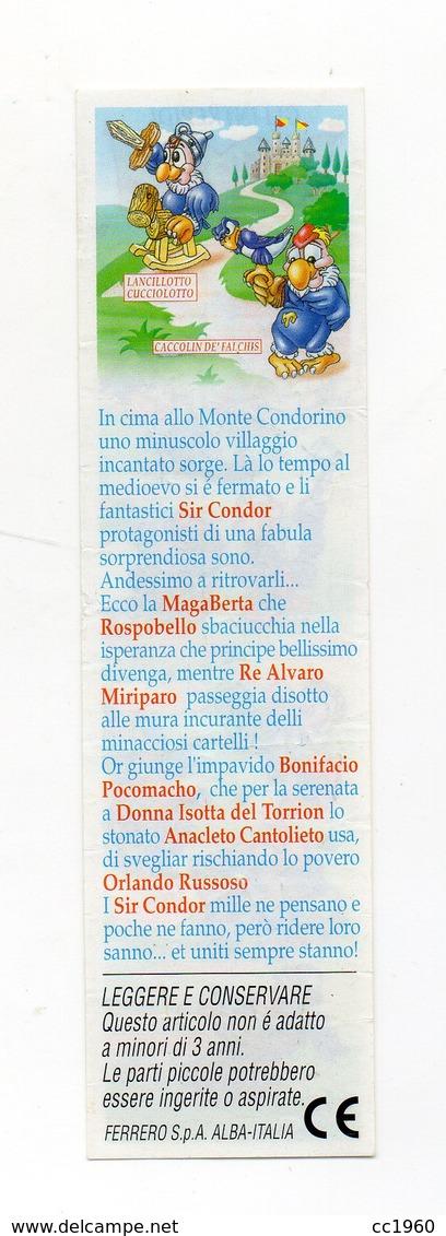KINDER - 1998 - Cartina Serie SIR CONDOR - (FDC15617) - Istruzioni