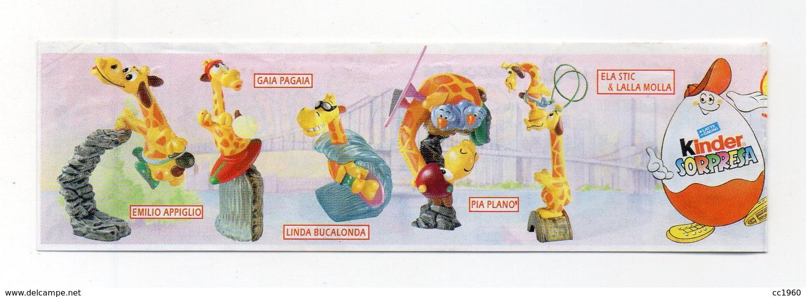 KINDER - 1999 - Cartina Serie SUPER GIRAFFE - (FDC15620) - Istruzioni