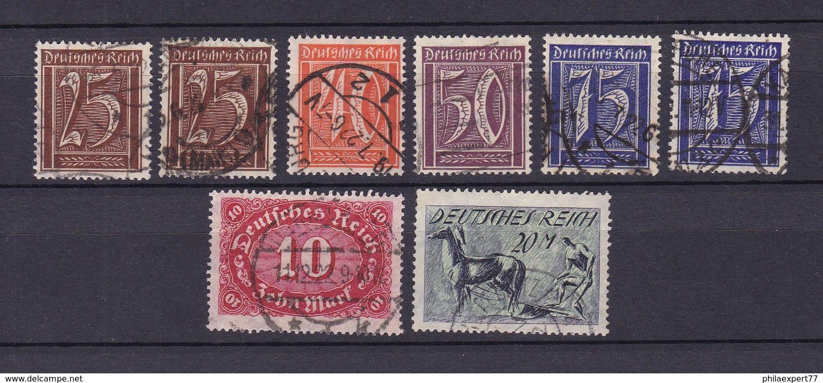 Deutsches Reich - 1921/22 - Michel Nr. 180, 182/183, 185, 195/196 - 29 Euro - Gebraucht