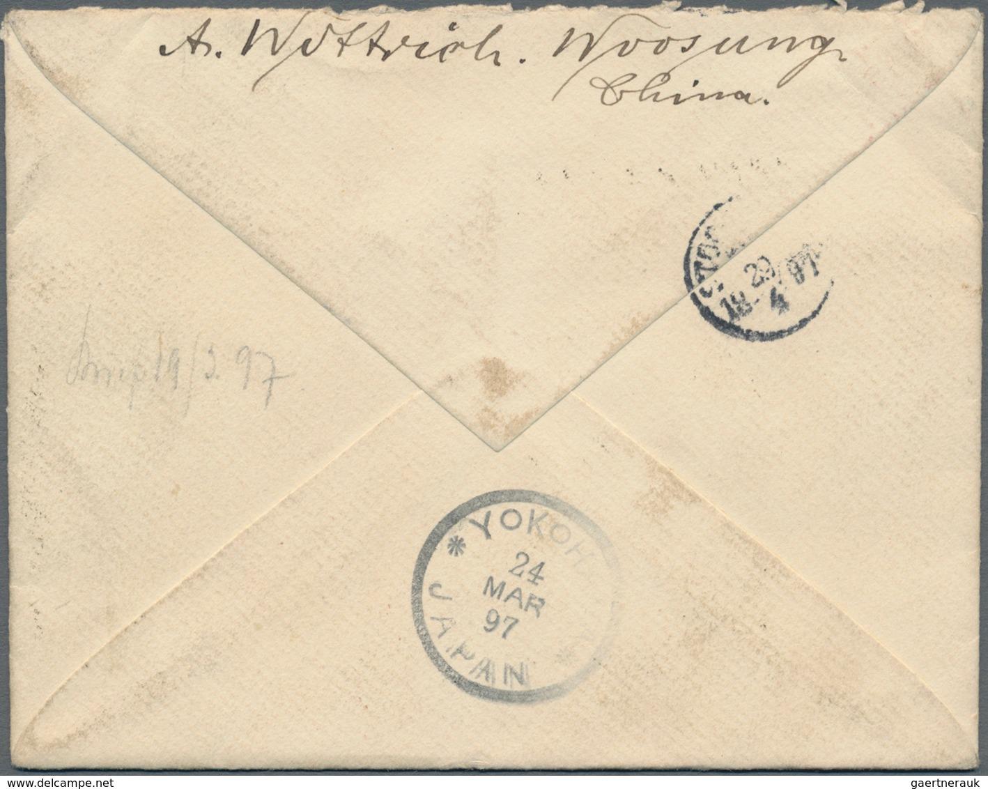 China - Besonderheiten: 1883/96, UPU Koban 1 S. (2), New Koban 3 S., 4 S., 15 S., Silver Wedding 2 S - China