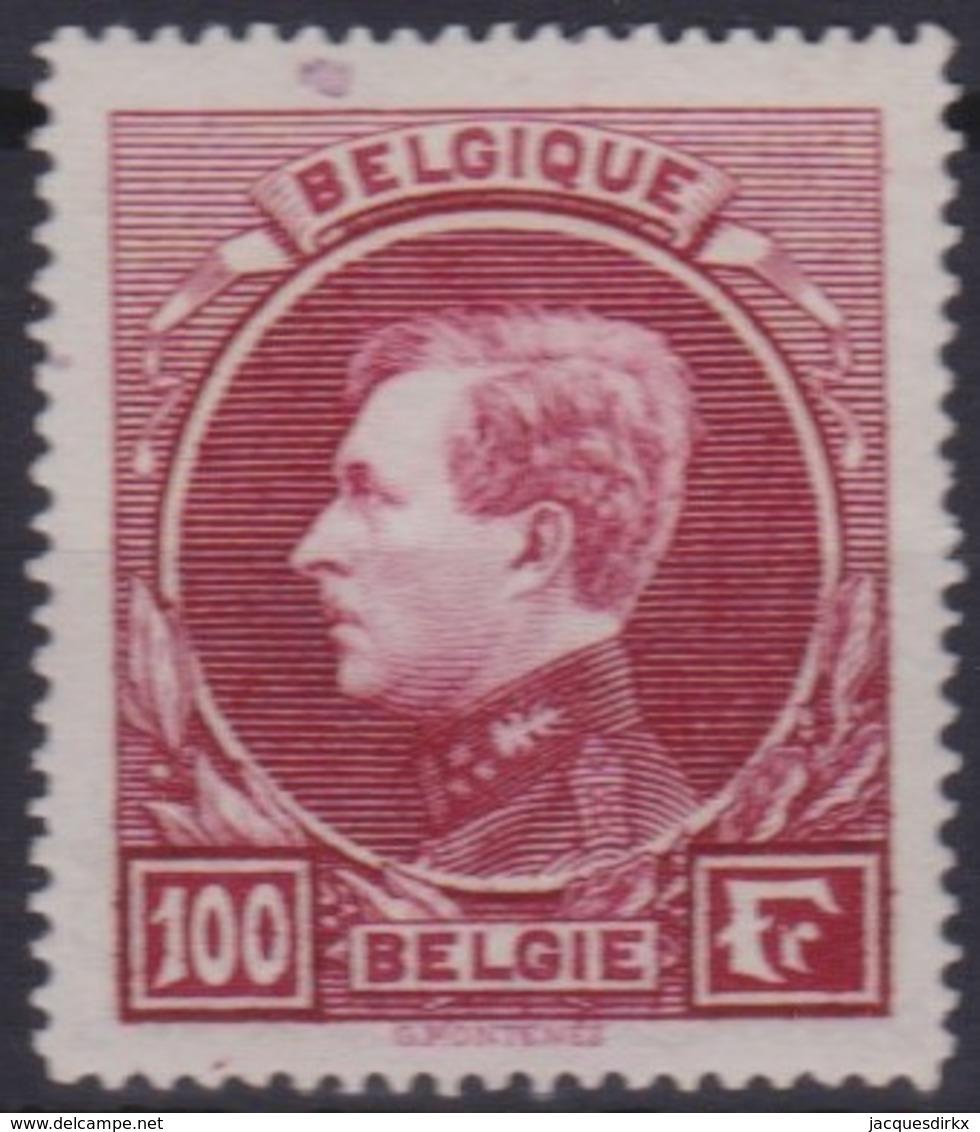 Belgie  .  OBP  .   292 -  Carmin - Tirage De Paris     .     **    .      Postfris  .   /   .  Neuf  SANS Charniere - Belgium