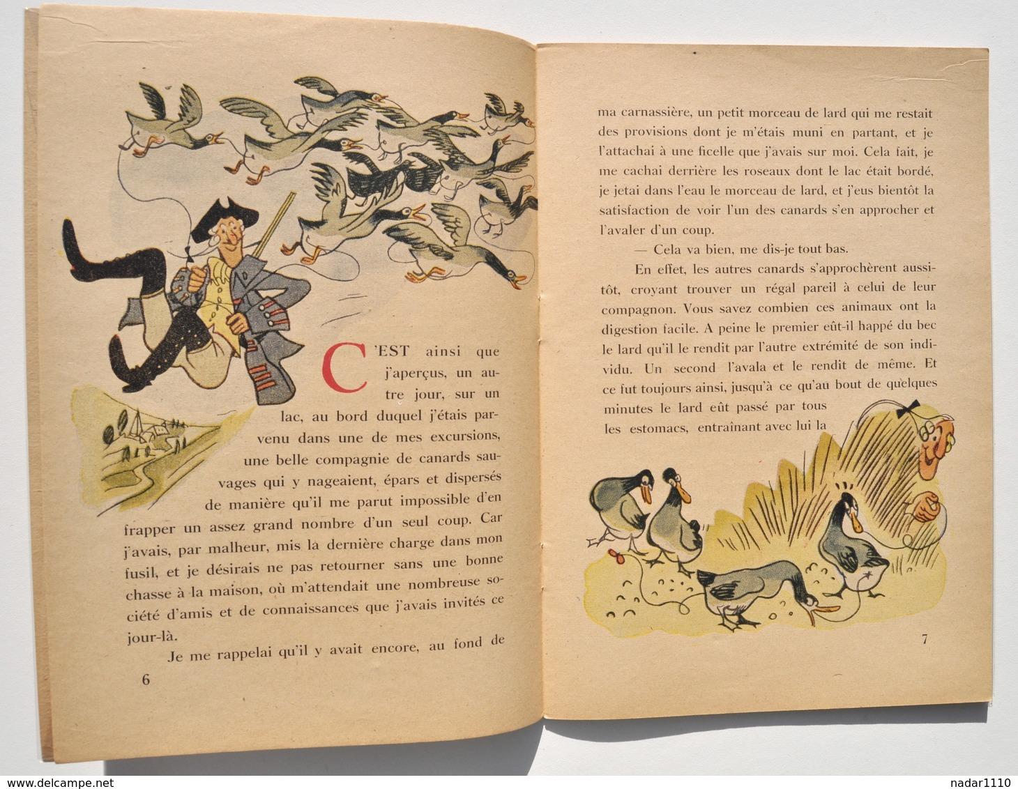 Enfantina / Les Aventures Du Baron De Crac / Münchhausen - Illustrations Van Rompaey, Gründ 1941 - Boeken Voor Kinderen