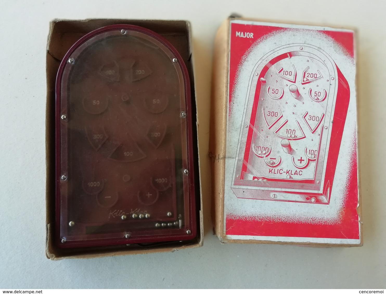 Jeux En Bakélite Ancien Klic-klac / Major, Jouet à Bille à Point,boite D'origine - Toy Memorabilia
