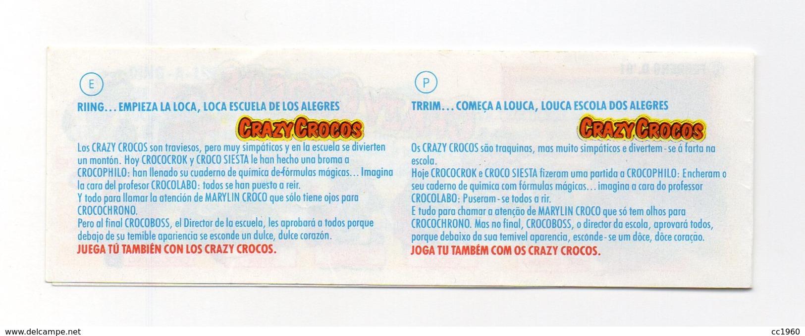 KINDER - 1991 - Cartina Serie CRAZY CROCOS - (FDC15632) - Istruzioni